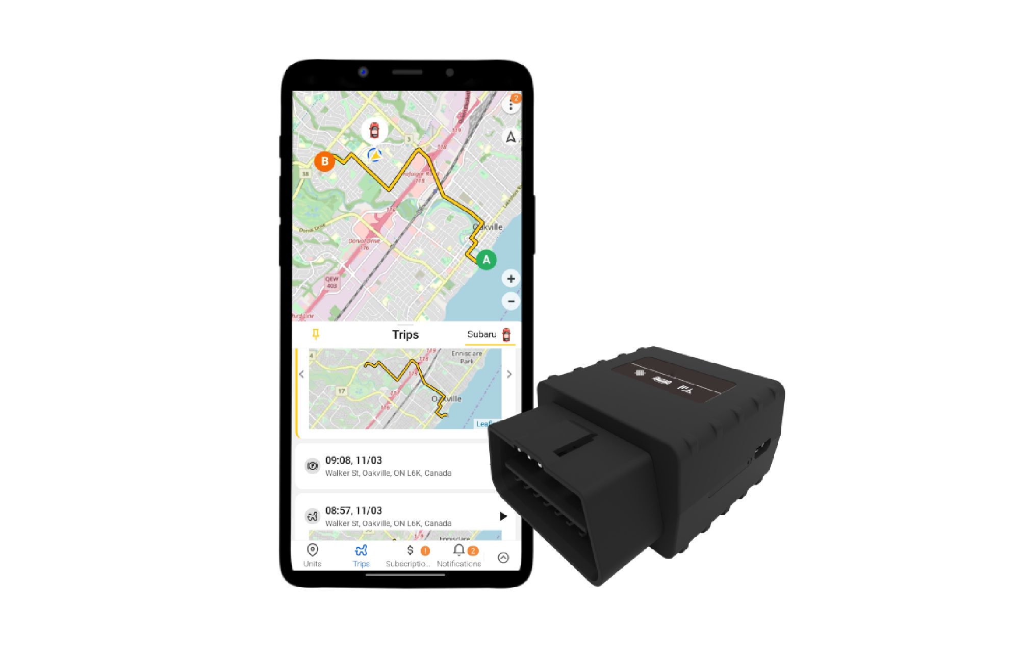 plug & play GPS tracker